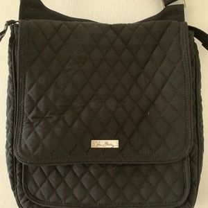 Vera Bradley mailbag black MF cheetah lining CB